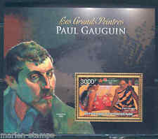 CENTRAL AFRICA 2012  THE GREATEST PAINTERS PAUL GAUGUIN  SOUVENIR SHEET NH