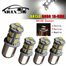 4x White 6000K BA15D 5050 13-SMD 1142 1076 RV Camper Marine Boat LED Light Bulbs
