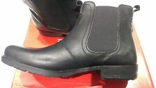 new MEN'S Red Tape Real Leather Chelsea Pull on ankle boots Black UK size 9