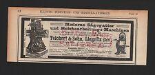 LIEGNITZ, Werbung 1908, Teichert & Sohn Sägegatter Holzbearbeitungsmaschinen