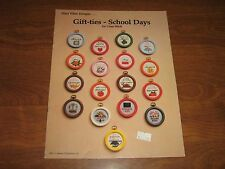 1981 Mary Ellen Designs GIFT-TIES-SCHOOL DAYS Cross Stitch Patterns