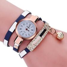 Women Charm Wrap Around Leatheroid Quartz Wrist Watch Fashion Watches