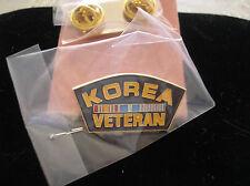 VETERAN HAT PIN - KOREA VETERAN WITH RIBBONS