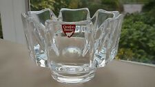 Orrefors Corona Lead Crystal Glass Hexagonal Bowl in Perfect Condition Swedish