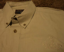 Haverty's Furniture Store Employee Uniform Embroidered Long Sleeve Shirt XL ~