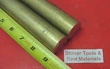 """2 Pieces 1-1/8"""" C360 BRASS SOLID ROUND ROD 9"""" long 1.125"""" H02 Lathe Bar Stock"""