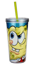 SPONGEBOB-16 OZ. CHILLER CUP WITH STRAW