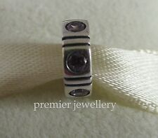 Authentic Genuine Pandora Sterling Silver Pink Spacer Charm - 790368PCZ