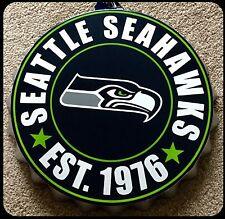 """Botella de logotipo NFL Seattle Seahawks Colgante de Decoración de pared Arte superior 13.5"""""""