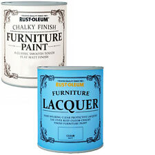 Rust-Oleum Chalky Furniture Paint Chic Shabby 750ml White 125ml Lacquer