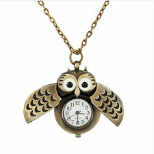Owl Antique Style Vintage Pocket Watch Necklace Gift for Women Fob Watch Nurse