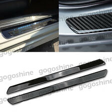 2x Carbon Fiber Car Auto Scuff Plate Door Sill Guard Cover Step Protector 49CM