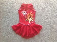 Girls Custom Ice Figure Skating Competition Dress Size M