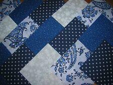 """40 X 4"""" paquete de encanto azul y blanca, 100% Algodón Patchwork/Quilting/Manualidades BW9"""