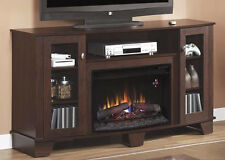 Electric Fireplace Entertainment Center TV Stand Media Wood Console Flame Heater