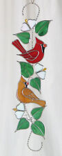 Stain Glass Christmas Cardinal Scroll