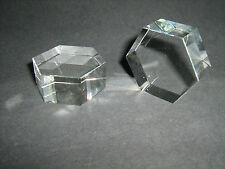 Base Cristallo Molato Esagonale GLASS CRYSTAL ORNAMENT 108861-40x20 Trasparente