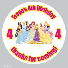 35x Personalised Princess 37mm Birthday Stickers Party Thank You Seals -N54