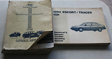1992 Ford Service Manual & Wiring Diagram Escort Tracer