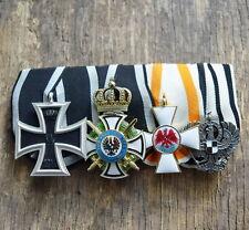 4er Ordensspange Preußen Hausorden der Hohenzollern Eisernes Kreuz Roter Adler