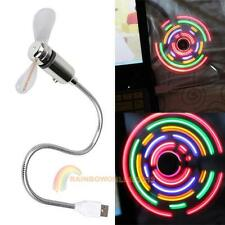 5LED Flexible Colorful Light Mini USB Fan Cooling for Home Desk Notebook Laptop