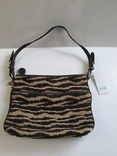 The Sak Modern Classics Crochet Knit Purse Shoulder Bag Tote Brown Gold  NWT