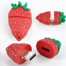 16GB Genuine Storage Novelty fruit Strawberry USB 2.0 Memory Stick Flash Drive