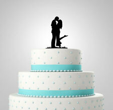 Cute couple wedding cake toppers