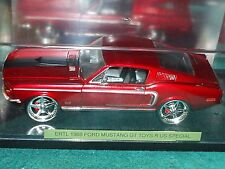 """ERTL 1968 FORD MUSTANG GT LOW PROFILE 1/18  DISPLAY CASE """"TOYS R US"""" EXCLUSIVE"""
