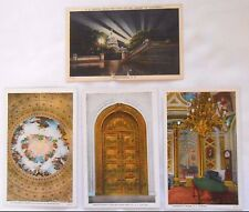 4 Vintage Postcards Washington D.C. - U.S. Capitol Rotunda Canopy Portico unused