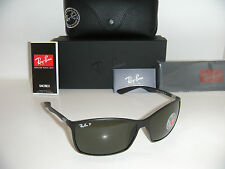 RAY BAN 4179 TECH LITEFORCE RB 4179 601S9A 62mm MATTE BLACK/GREEN POLARIZED NEW