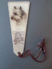 Vintage BOOKMARK CAIRN TERRIER Dog Greeting Gift 1930s OLD
