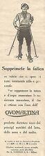 W2238 OVOMALTINA - Sopprimete la fatica... - Pubblicità del 1930 - Old advert