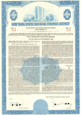New York State Housing Finance Agency   1973 housing project bond certificate