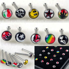 Lots 24pc Wholesale Body Jewelry Mixed Style Nose Ring Piercing Nose Studs + Box
