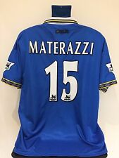Everton FC MATERAZZI 98/99 Home Football Shirt (XL) Soccer Jersey
