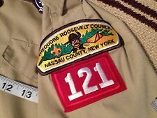 THEODORE ROOSEVELT AREA COUNCIL 121 BOY SCOUT SHORT SLEEVE SHIRT YOUTH L