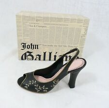 orig JOHN GALLIANO Gr 36,5 Sandaletten Heels Schuhe Shoes black  neu UVP 456 €