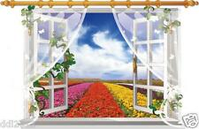 Removable 3D Window View Wall Sticker Mural Landscape Art Vinyl Decal Home Decor