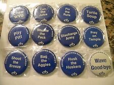 1979 PENN STATE CENTRAL COUNTIES BANK COMPLETE FOOTBALL BUTTON/PIN SET OF TWELVE