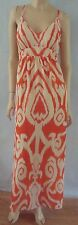 NWT INC Orange Vanilla Chiffon Print Long Maxi Dress 14W Womens Plus NEW