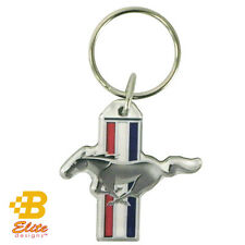 Ford Mustang Tri-Bar Logo Emblem Full Color Acrylic Key Ring Fob Made in USA