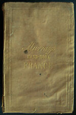 Murray's Hand-Book For Travellers In France 1848 Edition Guide Book