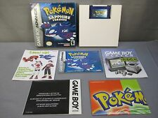 Nintendo GameBoy Advance POKEMON SAPPHIRE VERSION w/ Box & Instructions GBA 2003