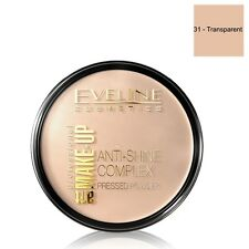 Complejo Eveline Cosmetics Anti Brillo Polvo Presionado sombra Transparente 31