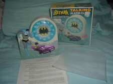 Working 1974 Batman & Robin Collectible Janex Talking Alarm Clock w/box.