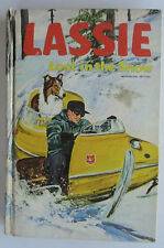 LASSIE Lost in the Snow Vintage Whitman HB Book Collie Dog Steve Frazee