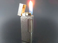Beautiful ALFRED Dunhill Rollagas Lighter Silver Plated SWISS MADE [640]