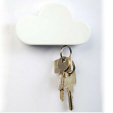 2016New Lovely Creative White Cloud Shape Magnetic Keychain Key Holder Wall Hook