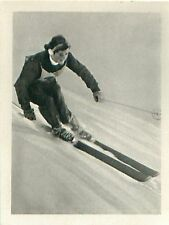 Madeleine Berthod Switzerland Suisse Alpine skiing SKI OLYMPIC GAMES 1956 CARD